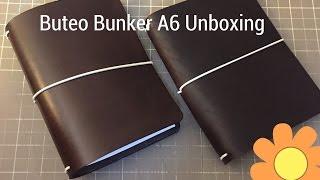 buteo bunker a6 traveler s notebook unboxing