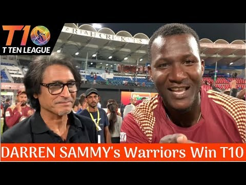 Darren Sammy's Warriors win T10 League | Ramiz Speaks