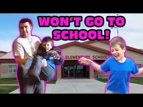 Kid Doesn't Want To Go To School Skit