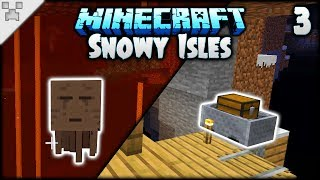 Mineshaft LOOT & Dangerous Ping-Pong!   Minecraft: The Snowy Isles (ULTRA-HARDCORE Survival) [#3]