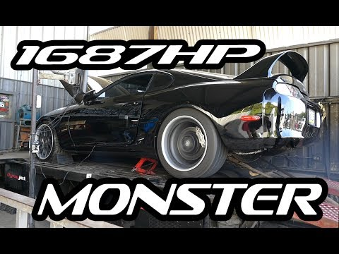 1687WHP MONSTER Supra BRUTAL Dyno Runs