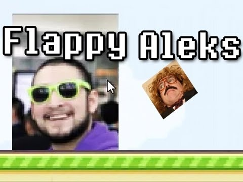 Flappy Aleks ( Flappy Bird Fan Game ) w/ Nova & Aleks' Reaction