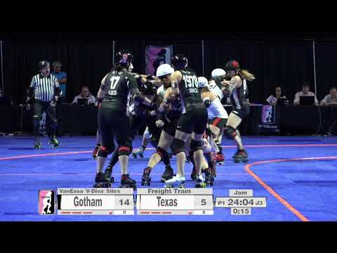 2017 International WFTDA Championships Game 7: Gotham Girls Roller Derby vs  Texas Rollergirls