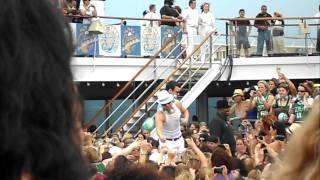 NKOTB Cruise 2011 - Donnie, Joey and Jordan at Sail Away Party