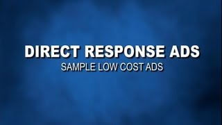Direct Response TV Commercial sample ads