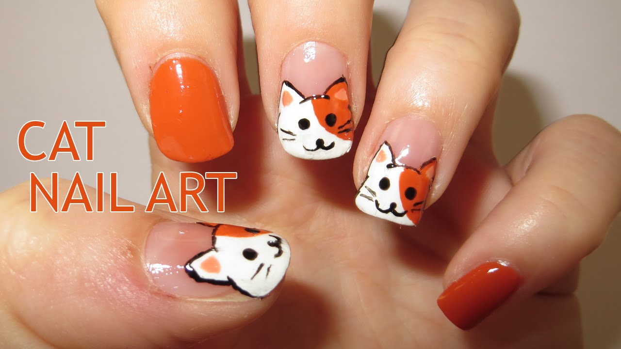 Cat Nail Art (Requested) - Cat Nail Art (Requested) - YouTube