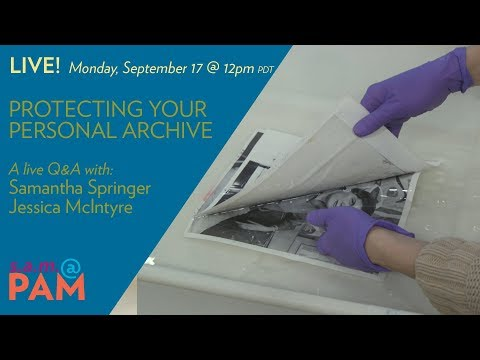 s a m @PAM: Protecting your Personal Archive
