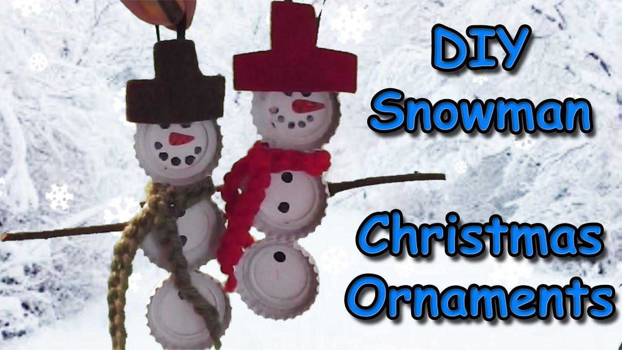 Easy Snowman Christmas Ornament Tutorial Youtube
