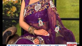HomeShop18.com - Mesmerizing Designer Saree By Khazana Sarees