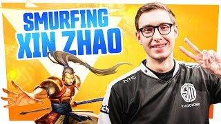 Bjergsen - SMURFING XIN ZHAO