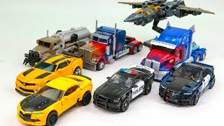 Transformers Movie 5 TLK VS 3 DOTM Optimes Prime Megatron Bumblebee Barricade Car Robot Toys