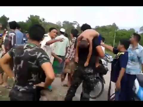 25 เม ย 57 ทหารไทยช่วยเด็กมุสลิมจมน้ำ ที่ อ มายอ จ ปัตตานี