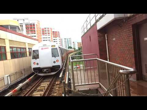 SMRT Trains NSL Kawasaki & CSR Sifang C151B 617/618 departing Choa Chu Kang (Northbound)