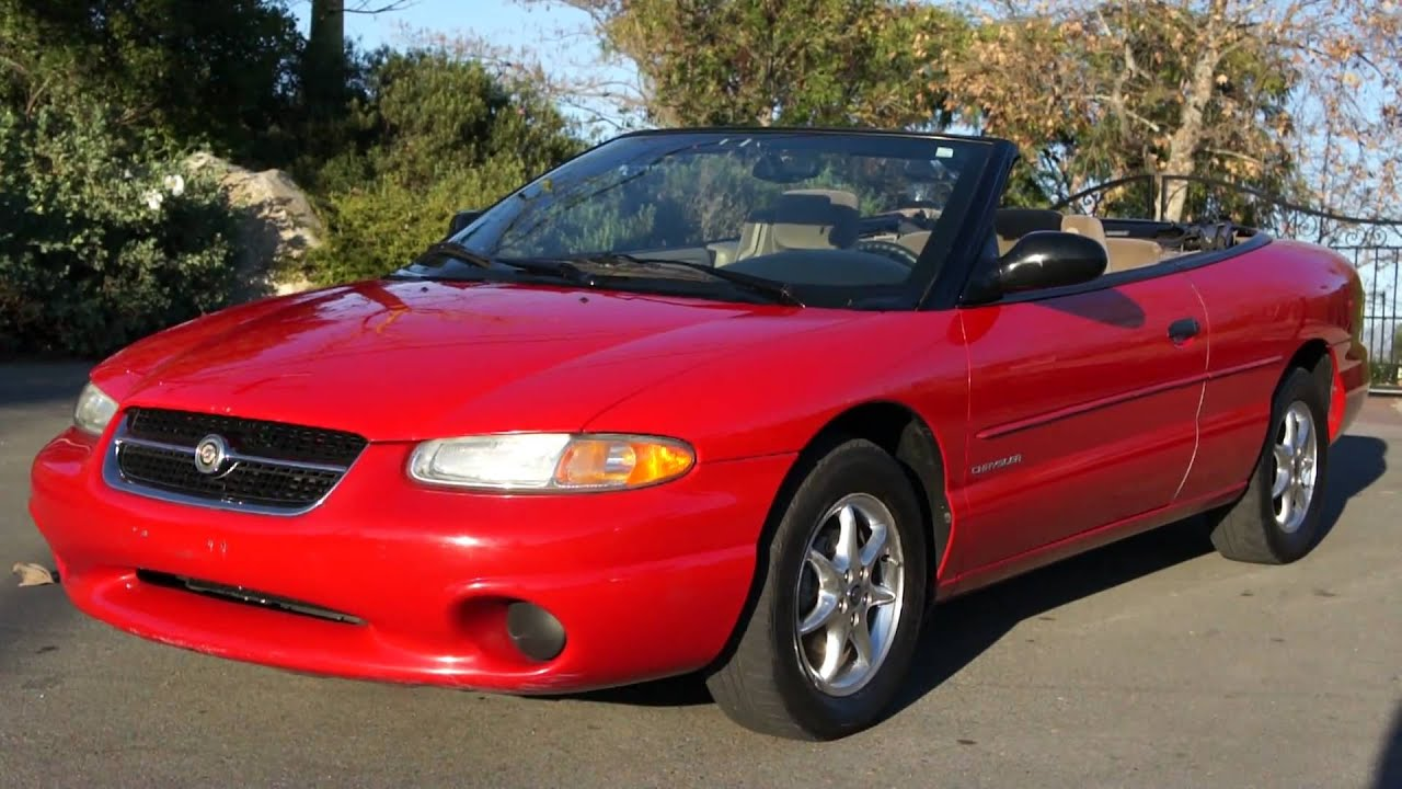 1 Owner 99 Chrysler Sebring Converble Roadster Mopar Cruiser Youtube