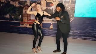 Gulden Melek and Moe Flex Salsa Social Dancing at Istanbul Dance Festival 2018