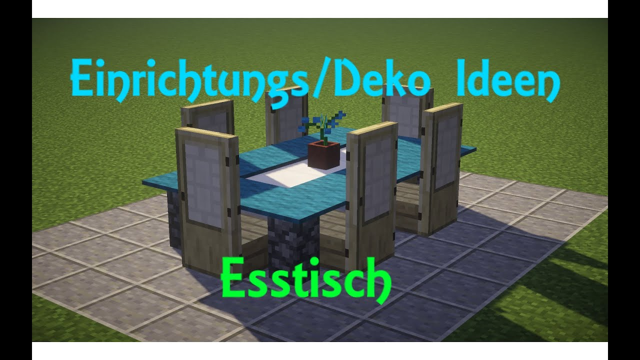 minecraft einrichtungs deko ideen 1 esstisch deutsch german hd 60fps youtube. Black Bedroom Furniture Sets. Home Design Ideas