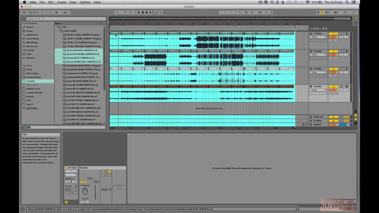 Audio Stems in Ableton Live - Creating Tracks - Creating Tracks