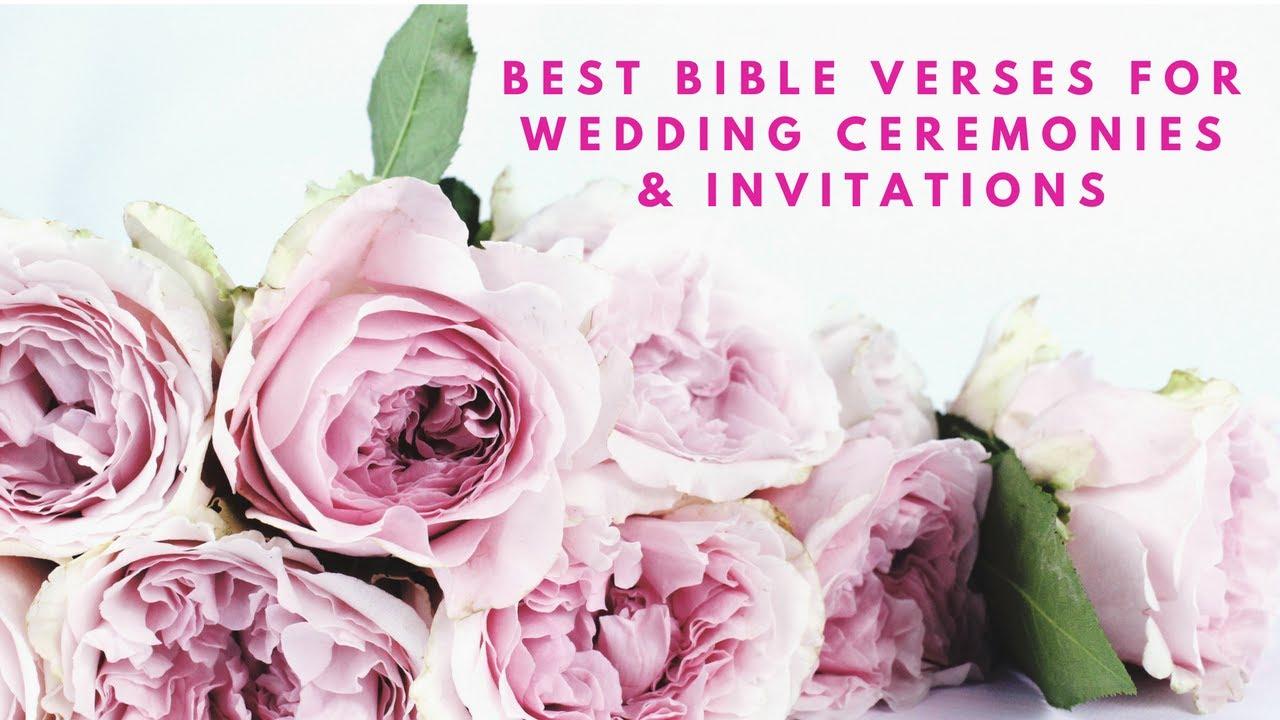 Best Verses For Wedding Ceremonies Invitations