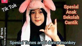 Download SPESIAL TIK TOK Anak Sekolah Cantik Tones And I Dance Monkey#4