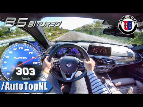 NEW! BMW ALPINA B5 608HP 303km/h AUTOBAHN POV By AutoTopNL