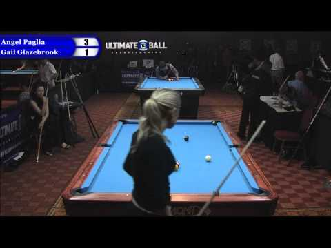 Angel Paglia vs Gail Glazebrook at the Ultimate 10-Ball Championships