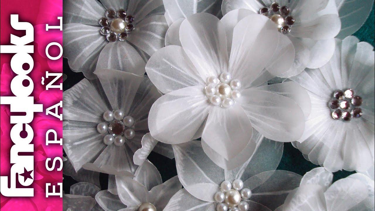 preciosas flores variadas de papel vegetal diy inspiradas por y laura valios youtube