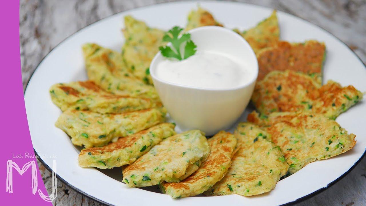 Tortitas de calabac n con salsa de yogur receta f cil y for Como se cocina el seitan