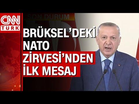 """Cumhurbaşkanı Erdoğan: """"Beklediğimiz destek ve dayanışmayı göremedik"""" NATO Zirvesi'nden ilk mesaj"""