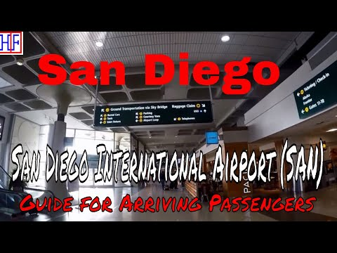 San Diego International Airport (SAN) - Arrivals And Ground Transportation Guide | Episode# 1