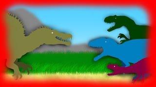 Dinosaurs Cartoons Battles: Spinosaurus Rampage Pivot. Динозавры Мультфильм