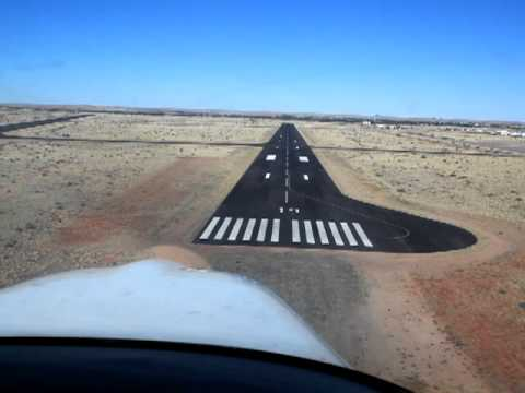 Landing Upington International Airport South Africa FAUP