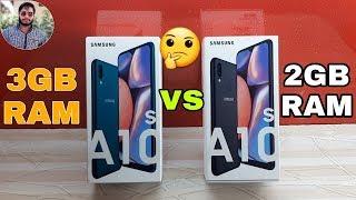 Samsung Galaxy A10s 2GB (RAM) vs A10s 3GB (RAM) Speed Test Comparison?