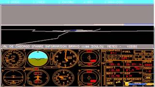 Microsoft Flight Simulator 4.0 gameplay (PC Game, 1989)