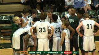 Westminster 7th Grade Boys Basketball: League Championship vs. Blessed Trinity