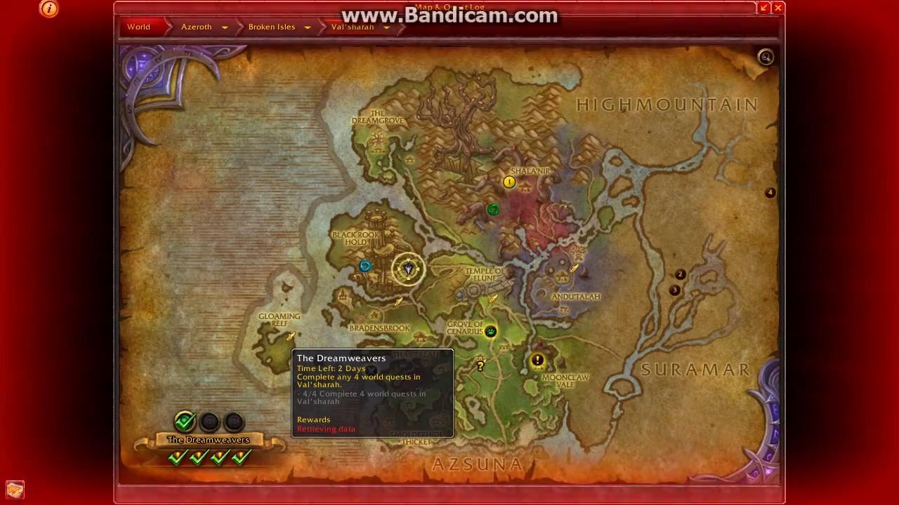 Darkshade Location (World Quest) - WoW Legion - YouTube