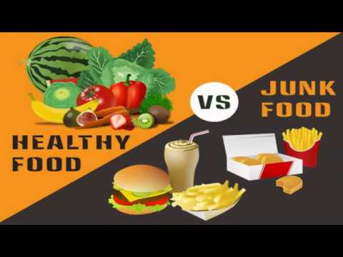 fast food and healthy food comparison