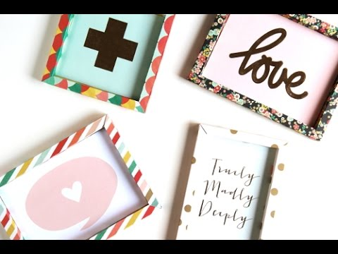 Diy 3D Shadow Box Paper Frame - YouTube