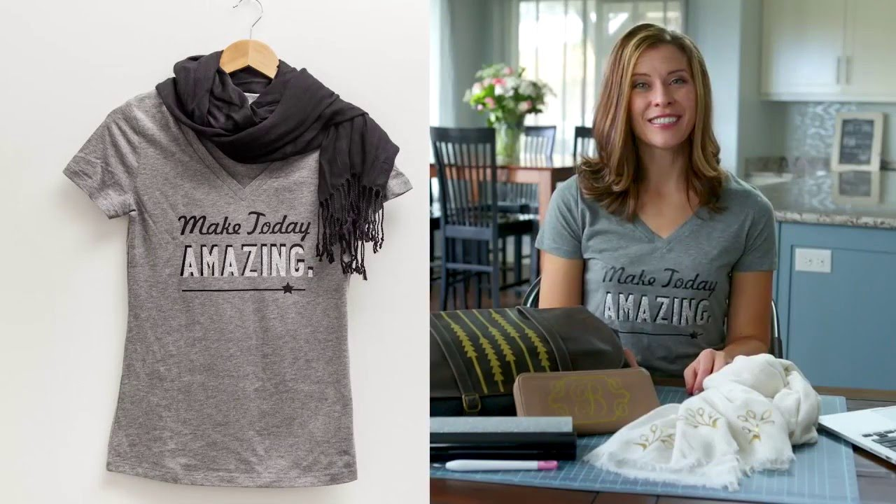 Cricut Explore Creating A Personalized T Shirt With Lettering Youtube