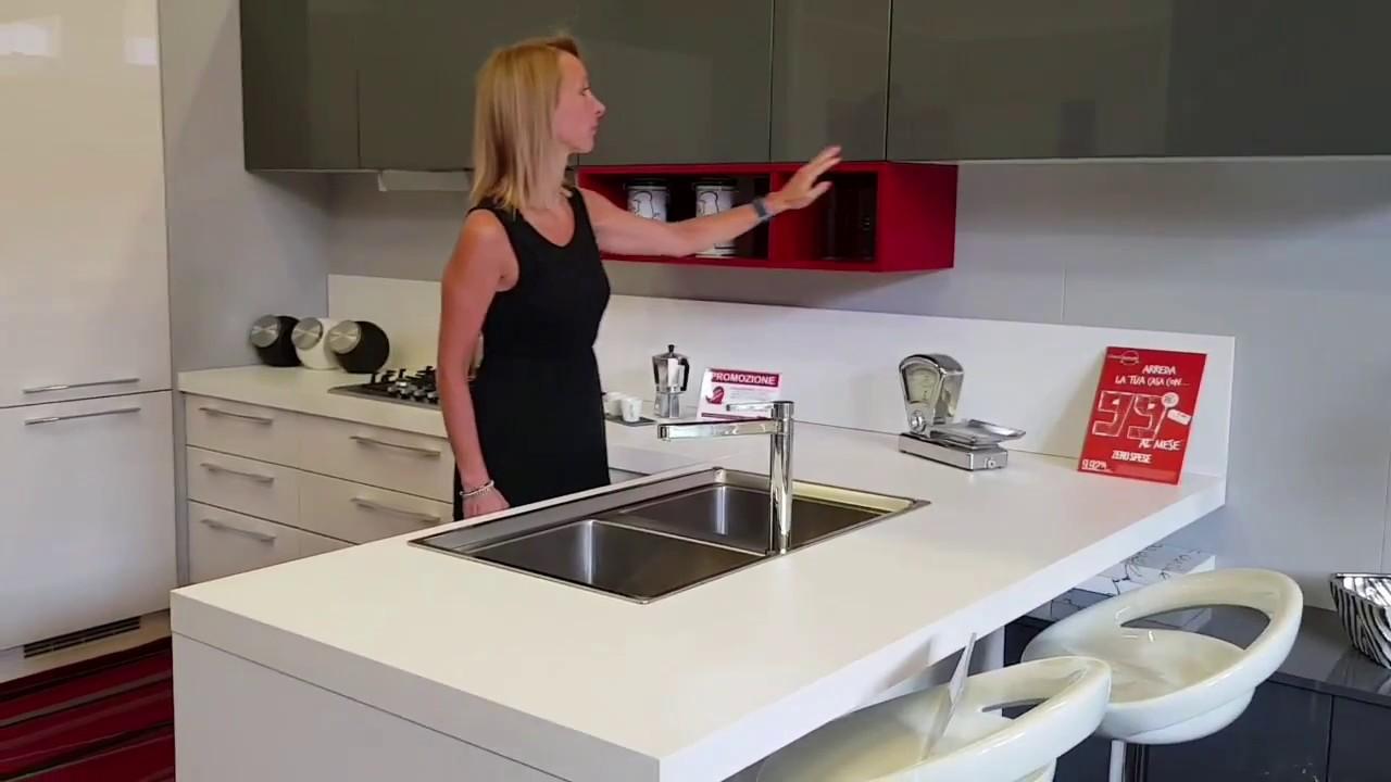 Cucina 4 Metri.Cucina Da 7 4 Metri In Sconto Da Arredissima