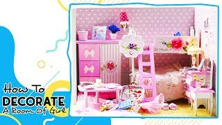 DIY DollHouse Wooden:  How to Decorate a Girl's Bedroom