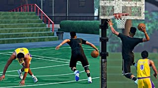 NBA 2k16 MyPark - YOUNG KOBE PLAYED THE BEST DEFENSE I EVER SEEN.. UNTIL HE GOT BROKE!!!