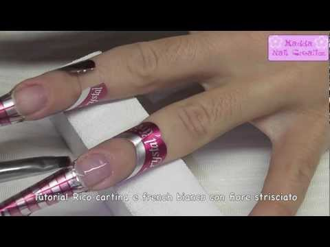 Tutorial - Ricostruzione con cartina/nail forum Crystal Nails e fiore strisciato || Madda.fashion