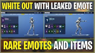 *NEW* Fortnite: WHITEOUT SKIN SHOWCASE WITH *ALL* LEAKED/UN-RELEASED EMOTES! | (Rare Emotes)