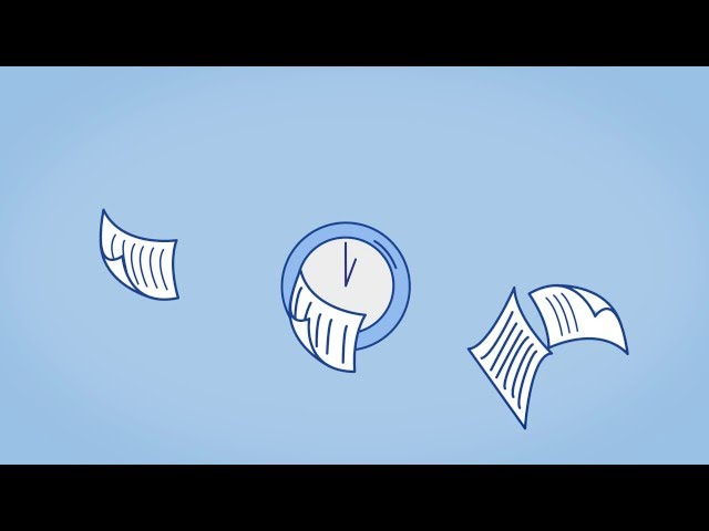 Infographic animation on document management