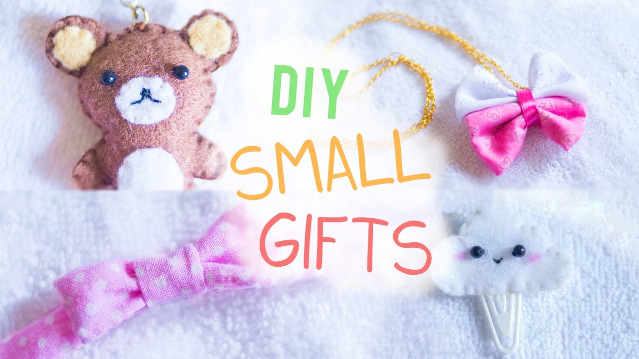 Diy Small Gifts For Friends Ideas I Wear A Bow Youtube