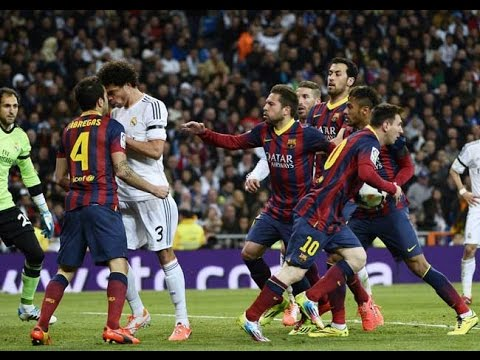 Thumbnail: El Clasico - Real Madrid vs Barcelona (Fights, Fouls, Red Cards)