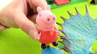 Пеппа, видео игрушки. ТЕАТР: дракон похищает принцессу. Мультики для детей(Детский канал