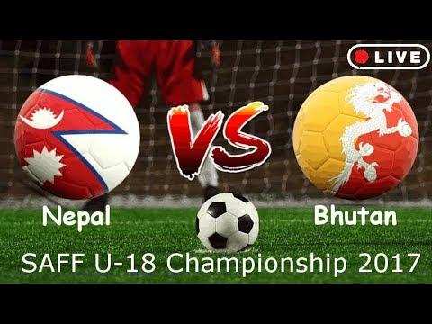 Nepal VS Bhutan | SAFF U18 Championship 2018 | Live | 720p 60 FPS