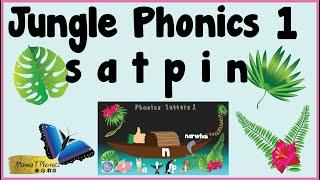 Find phonics initial soขnds in objects | Jungle Phonics 1 | s, a, t, i, p, n