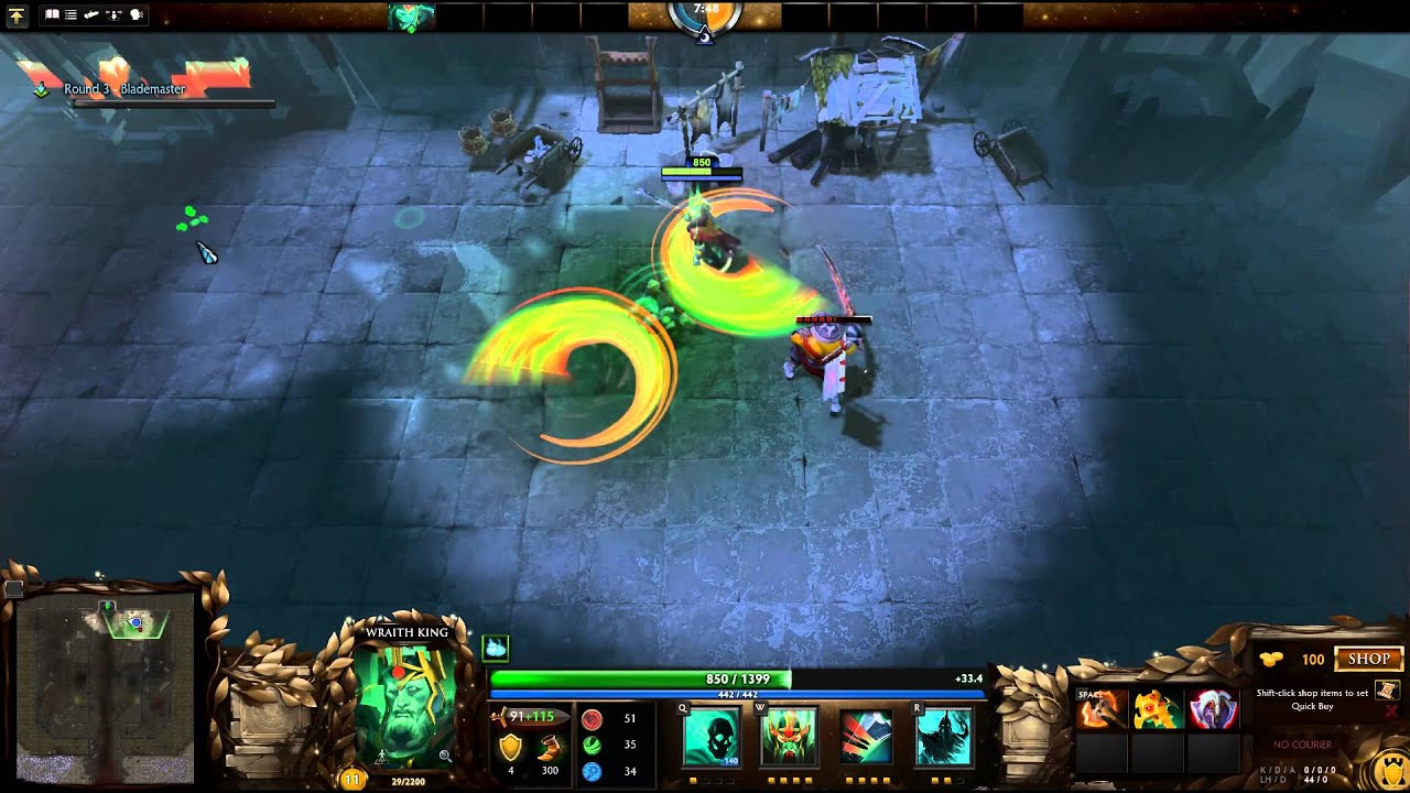 dota 2 attack on hero solo walkthrough wraith king youtube